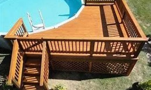Another deck idea  multi-level with bench going onto the grass/ground level  201…