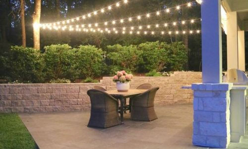 Idea for filling in area where deck doesnt quite meet the pool #ledpatiolight