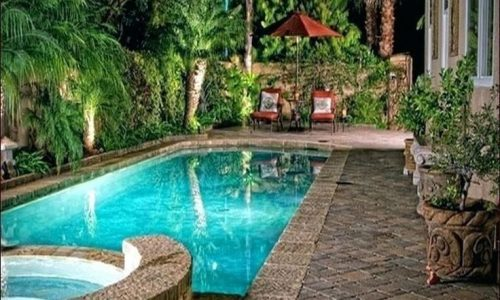 Luxury Beach Entry Fiberglass Pool