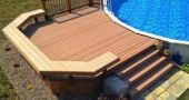 Above ground pool deck ideas on a budget #pooldeckideasforabovegroundpool