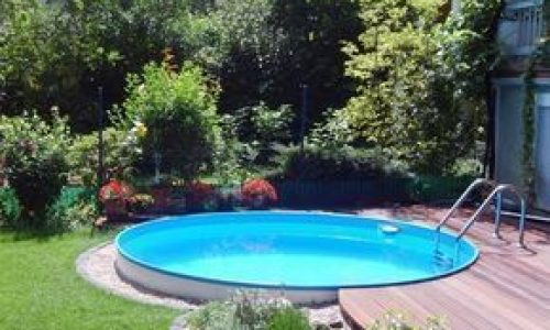 above ground rectangular pool in ground pool landscaping ideas rectangle pool id…