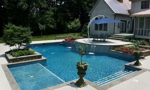 .  We also replaced the pool deck tile and remodeled the pool. Before and After.